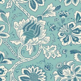 Andover Annabelle - Main Floral Teal