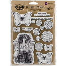 """Prima Marketing Finnabair Cling Stamps 6""""X7.5"""" - Don't Forget To Fly"""