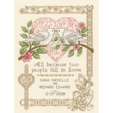 "Imaginating Counted Cross Stitch Kit 7.25"" X10"" All Because Wedding (14 Count)"