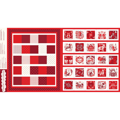 Dashwood Studio Advent Panel - Red and White Advent Calendar