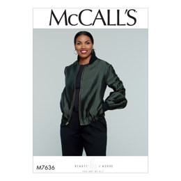 McCall's Misses' Bomber-Style Jacket M7636 - Sewing Pattern