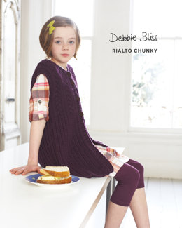 Cabled Gilet in Debbie Bliss Rialto Chunky - DB121 - Leaflet
