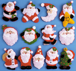 Design Works Lots of Santas Felt Ornaments Kit