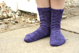 Sleepwalker Socks in Dream in Color Smooshy with Cashmere Solids