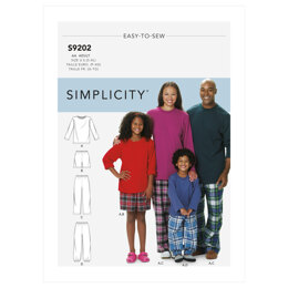 Simplicity Misses'/Men's/Children's/Boys'/Girls' T-Shirt, Shorts and Pants S9202 - Sewing Pattern