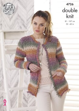 Jacket and Sweater in King Cole DK - 4726