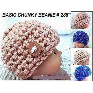 286, CHUNKY STYLE BEANIE, Preemie to 12 months