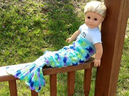 18 inch Doll Be a Mermaid Blanket