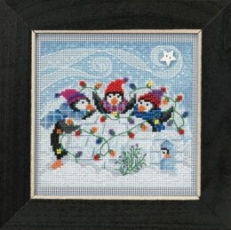 Mill Hill Playful Penguins Cross Stitch Kit - 13.33cm x 13.33cm