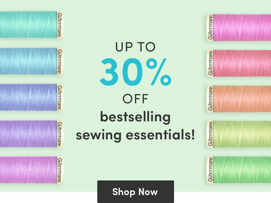 Up to 30 percent off bestselling sewing supplies!