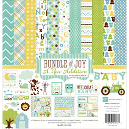"Echo Park Paper Echo Park Collection Kit 12""X12"" - Bundle Of Joy/A New Addition - Baby Boy"