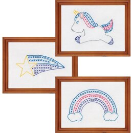 Jack Dempsey  Stamped Embroidery Kit Samplers - Unicorn