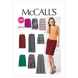 McCall's Misses' Skirts In 7 Lengths M6654 - Sewing Pattern