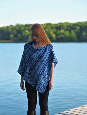 Ocean Current Poncho