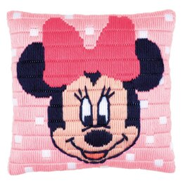 "Vervaco Disney - Minnie Mouse Long Stitch Cushion Kit - 25 x 25cm / 10"" x 10"""