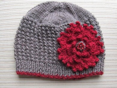 Rice Stitch Hat in Size Adult