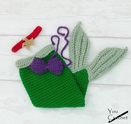 Ariel Little Mermaid Tail Set