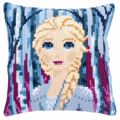 Vervaco Disney Frozen 2: Elsa Cushion Cross Stitch Kit - 40 x 40cm