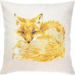 Luca-S Sleeping Fox Cushion Cross Stitch Kit