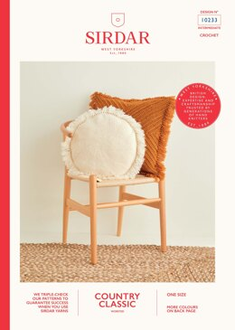 Cushions in Sirdar Country Classic Worsted - 10233 - Downloadable PDF