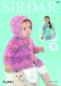 Hooded and Round Neck Coats in Sirdar Flurry - 4769 - Downloadable PDF