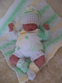"Pattern #48 Early Baby Layette for 14-16"" Reborn Dolls"
