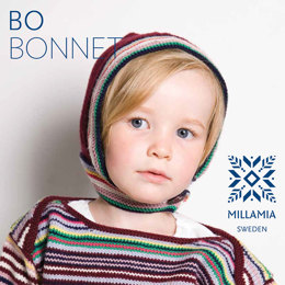 Bo Bonnet in MillaMia Naturally Soft Merino - Downloadable PDF