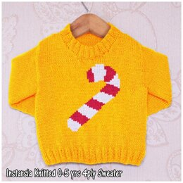 Intarsia - Candy Cane - Chart Only