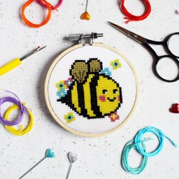 The Make Arcade Mini Cross Stitch - Bella Bee