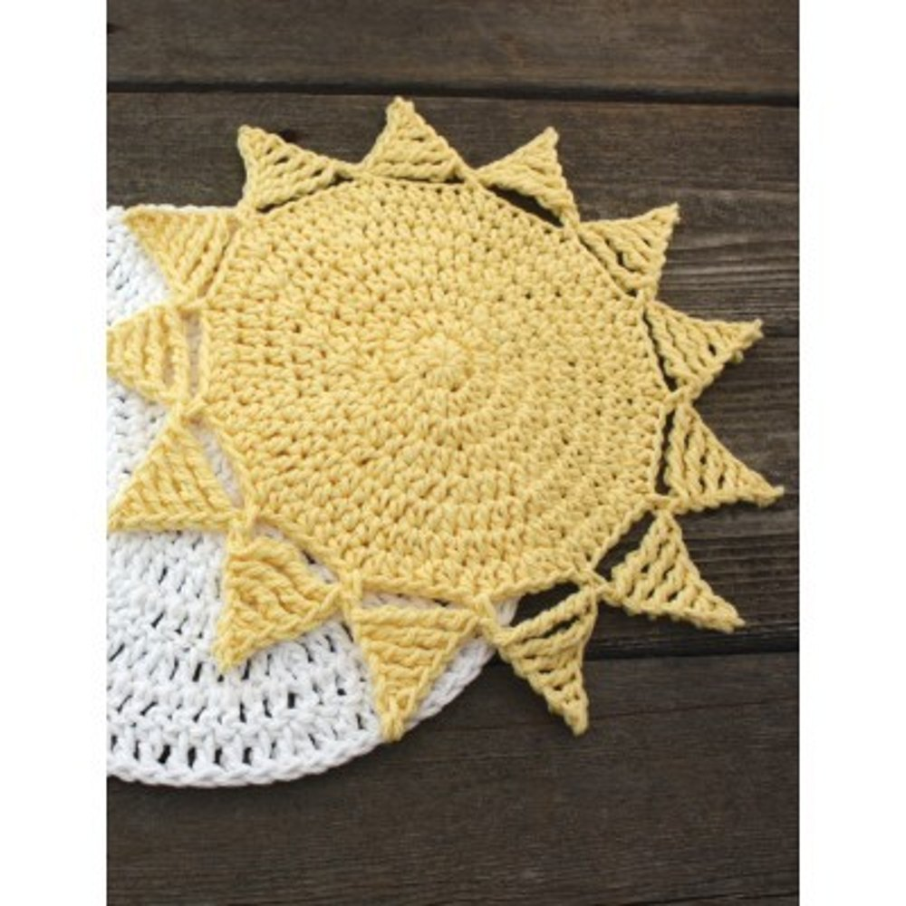 Sunny Dishcloth In Lily Sugar And Cream Solids Crochet Patterns