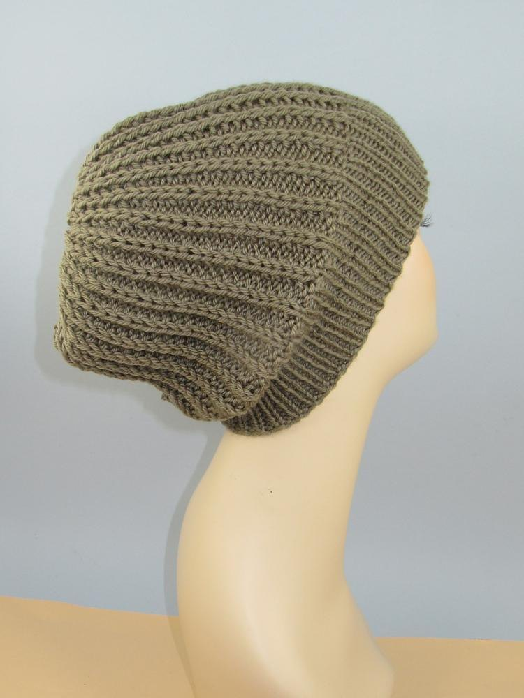 Chunky Simple Fishermans Rib Slouch Hat Knitting Pattern