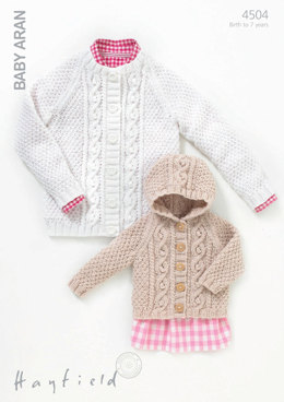 Cardigans in Hayfield Baby Aran - 4504 - Downloadable PDF