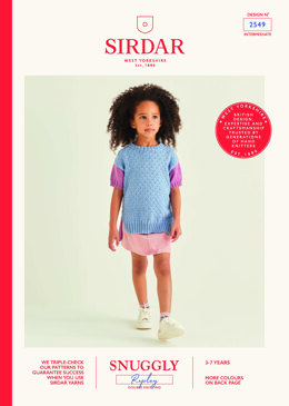 Children's Tunic in Sirdar Snuggly Replay DK - 2549 - Leaflet
