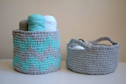 Knit look basket