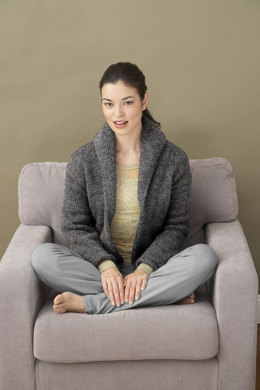Milo Cardigan in Lion Brand Wool-Ease - 90196AD