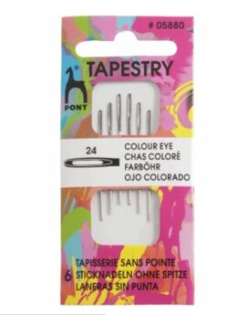 Pony Tapestry Needles - Colour Coded