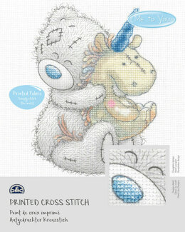 DMC Me To You - Tatty Teddy & Tiny Tatty Teddy - Unicorn (printed fabric) - 14cm x 18cm