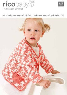 Cardigans V-Neck/Round Neck in Rico Baby Cotton Soft DK - 244