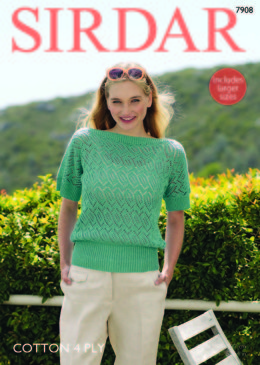 08e99909726552 Top in Sirdar Cotton 4 Ply - 7908 - Leaflet