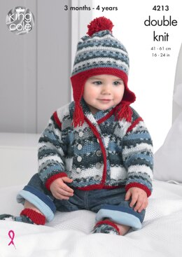 Jackets, Sweater, Hat and Socks in King Cole DK - 4213 - Downloadable PDF