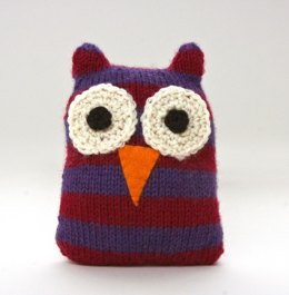 Striped Owl in Lion Brand Wool-Ease - L20059