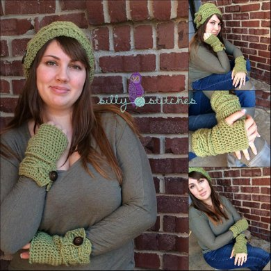 Cabled Button Mitts