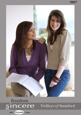 Knitted Cable Sweater in Twilleys Freedom Sincere DK - 9097