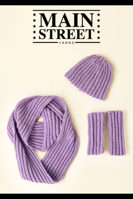 Pillar Accessory Set in Main Street Yarns Shiny + Soft - Downloadable PDF