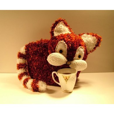 Red Cat Tea Cozy