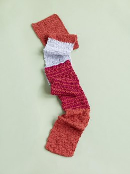 Pattern Mix Scarf in Lion Brand Wool-Ease - 90066AD