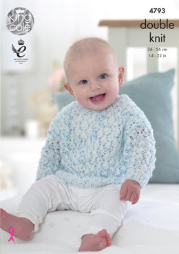 Sweaters & Cardigans in King Cole Smarty DK - 4793 - Leaflet
