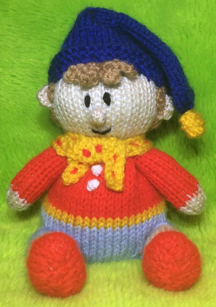 Noddy Doll Knitting Pattern : Noddy Choc Orange Cover / Toy Knitting pattern by Andrew Lucas