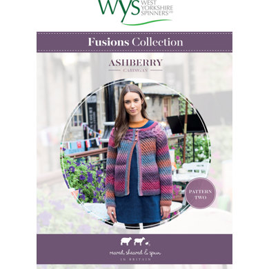 Ashberry Cardigan in West Yorkshire Spinners Aire Valley Aran Fusions - Leaflet