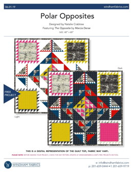Windham Fabrics Polar Opposites - Downloadable PDF